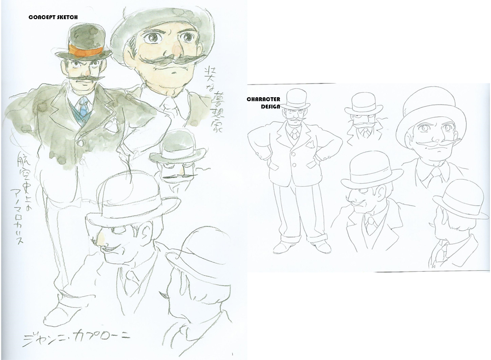 Character Design Editor : Hayao miyazaki kitaro kousaka the wind rises character