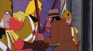 Rating: Safe Score: 3 Tags: animated character_acting crowd fighting lupin_iii lupin_iii_castle_of_cagliostro running shojuro_yamauchi User: dragonhunteriv