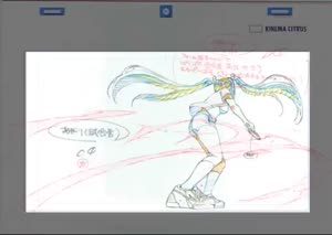 Rating: Safe Score: 62 Tags: animated genga production_materials shakunetsu_no_takkyu_musume takushi_koide User: Ashita