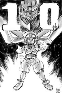 Rating: Safe Score: 19 Tags: hiroyuki_imaishi illustration mecha tengen_toppa_gurren_lagann web User: Knowzen