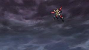 Rating: Safe Score: 42 Tags: animated effects fighting gaiking:_legend_of_daiku-maryu lightning mecha naotoshi_shida smoke User: Ashita