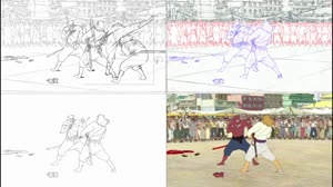 Rating: Safe Score: 157 Tags: animated bakemono_no_ko creatures fighting genga genga_comparison layout takayuki_hamada User: dragonhunteriv