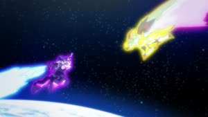 Rating: Safe Score: 6 Tags: animated artist_unknown debris effects explosions fighting mecha regalia_the_three_sacred_stars User: Ashita