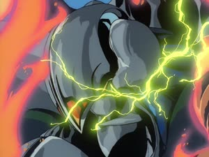 Rating: Safe Score: 45 Tags: animated effects explosions fight!!_iczer_1 fighting fire hirotoshi_sano lightning mecha smoke User: MMFS