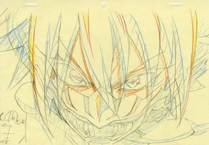 Rating: Safe Score: 6 Tags: artist_unknown correction genga production_materials sousei_no_onmyouji User: YGP