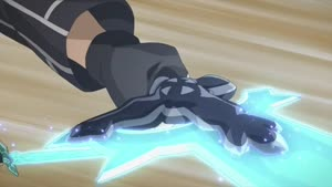 Rating: Safe Score: 27 Tags: animated artist_unknown effects fighting kento_toya rotation smears sparks sword_art_online sword_art_online_series User: Ashita