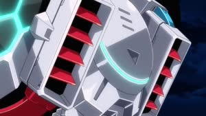 Rating: Safe Score: 43 Tags: animated artist_unknown cgi debris effects explosions fighting impact_frames lightning mecha ssss._gridman User: Ashita