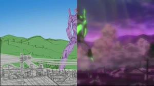 Rating: Safe Score: 23 Tags: animated genga genga_comparison neon_genesis_evangelion production_materials rebuild_of_evangelion takashi_hashimoto User: MMFS