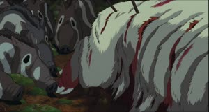 Rating: Safe Score: 3 Tags: animals animated creatures fighting michio_mihara princess_mononoke User: dragonhunteriv