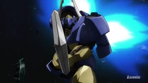 Rating: Safe Score: 3 Tags: animated artist_unknown effects fighting gundam mecha mobile_suit_gundam:_iron-blooded_orphans smears sparks User: Ashita