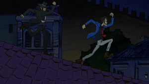 Rating: Safe Score: 11 Tags: 3d_background animated artist_unknown background_animation cgi fighting lupin_iii lupin_iii_(2015) running smears User: PurpleGeth