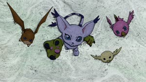 Rating: Safe Score: 22 Tags: animated artist_unknown character_acting creatures debris digimon digimon_adventure digimon_adventure_02_ogon_no_digimentaru effects smears User: zztoastie