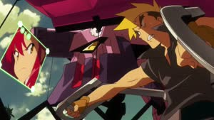 Rating: Safe Score: 9 Tags: animated artist_unknown effects explosions fighting mecha tengen_toppa_gurren_lagann tengen_toppa_gurren_lagann:_lagann-hen User: alexswak