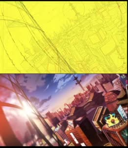 Rating: Safe Score: 33 Tags: animated debris effects genga genga_comparison impact_frames in_seung_choi non-human_academy_(video_game) production_materials smears User: Tukilit