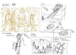 Rating: Safe Score: 7 Tags: hiroyuki_imaishi kill_la_kill storyboard User: Xmax360