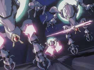 Rating: Safe Score: 20 Tags: animated artist_unknown debris effects fighting impact_frames mecha red_photon_zillion User: Agresiel