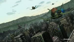 Rating: Safe Score: 4 Tags: animated artist_unknown effects fighting flying gundam missiles mobile_suit_gundam_thunderbolt vehicle User: Ashita