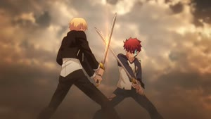 Rating: Safe Score: 8 Tags: animated artist_unknown effects fate_series fate/stay_night_unlimited_blade_works_(2014) fighting smears smoke sparks User: KamKKF