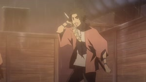 Rating: Safe Score: 14 Tags: animated artist_unknown effects fighting liquid samurai_champloo sparks User: ken