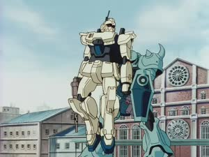 Rating: Safe Score: 40 Tags: animated artist_unknown debris effects fighting gundam mecha mobile_suit_gundam:_the_08th_ms_team sparks User: Jarmel