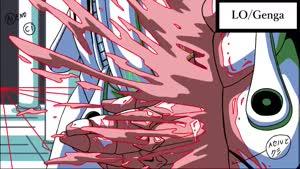 Rating: Safe Score: 22 Tags: animated effects genga genga_comparison henry_thurlow jojo's_bizarre_adventure_series jojo's_bizarre_adventure:_vento_aureo liquid production_materials User: ken