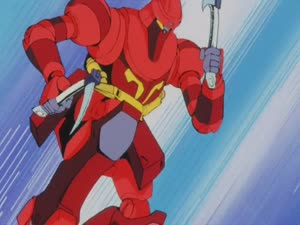 Rating: Safe Score: 3 Tags: animated artist_unknown effects explosions fighting mecha ninja_senshi_tobikage User: MMFS