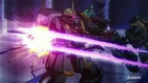 Rating: Safe Score: 8 Tags: animated beams effects fighting gundam mecha mobile_suit_gundam_thunderbolt tomoyasu_kudou User: Ashita