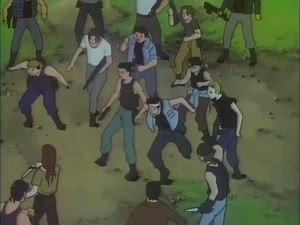 Rating: Safe Score: 16 Tags: animated artist_unknown crowd effects fighting lupin_iii lupin_iii_walther_p-38 smears sparks User: darkneemon