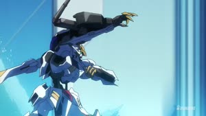 Rating: Safe Score: 5 Tags: animated artist_unknown effects fighting gundam mecha mobile_suit_gundam:_iron-blooded_orphans sparks User: Ashita