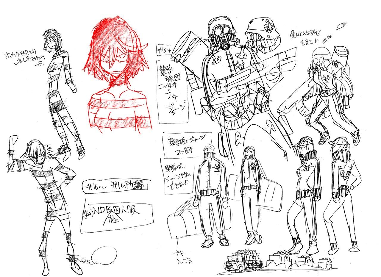 character_design hiroyuki_imaishi kill_la_kill settei